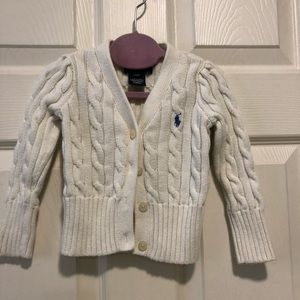 Ralph Lauren toddler girls' cream sweater